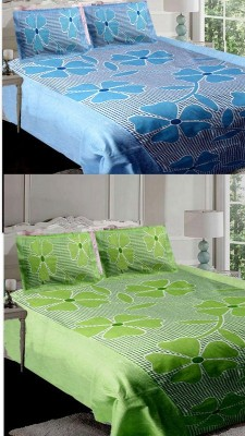Esscofabs Cotton Floral Double Bedsheet