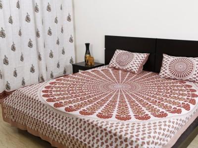 Exkklusiv Rajasthan Cotton Paisley Double Bedsheet