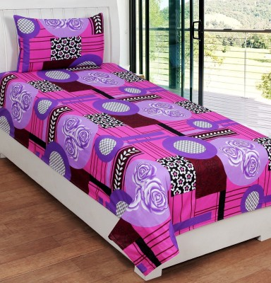Ville Style Cotton Abstract Single Bedsheet