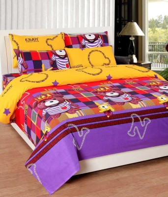 Vugis Cotton Cartoon Queen sized Double Bedsheet