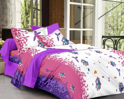 Kunal Cotton Floral King sized Double Bedsheet