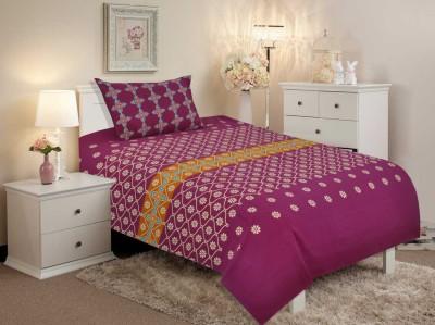 Salona Bichona Cotton Floral Single Bedsheet