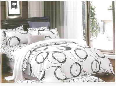 Ross Luxury Living Cotton Polka Double Bedsheet
