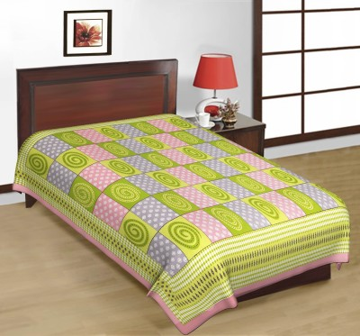 Artisan Creation Cotton Checkered Single Bedsheet