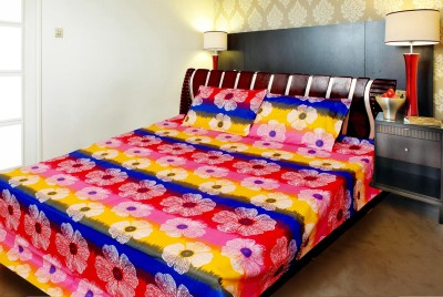 vinaayak Cotton Floral Double Bedsheet