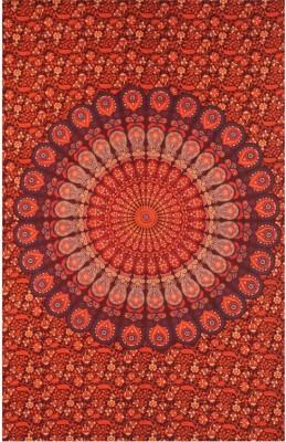 EthnicLink Cotton Printed Single Bedsheet