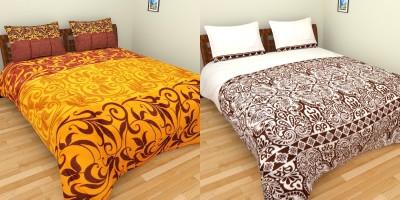 Bichauna by Portico Cotton Linen Blend Plain Double Bedsheet
