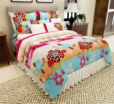 Amethyst Polycotton Floral Double Bedsheet