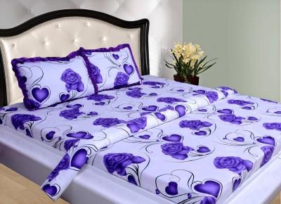THOIDAM Cotton Floral Double Bedsheet