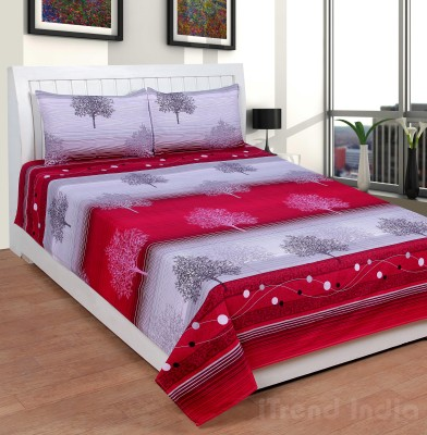 iTrend India Polycotton Abstract Double Bedsheet