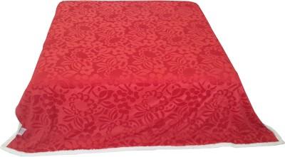 Valtellina Floral Double Blanket Red