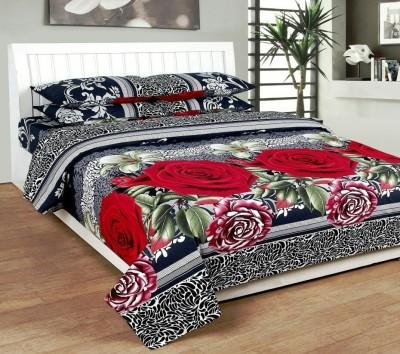 KGM Cotton Floral King sized Double Bedsheet