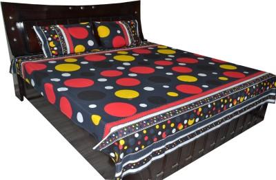 Fabbig Cotton Geometric Double Bedsheet