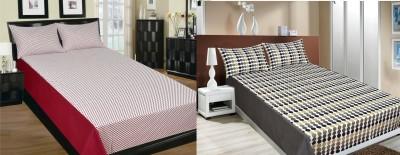 Home Colors Cotton Polka Double Bedsheet