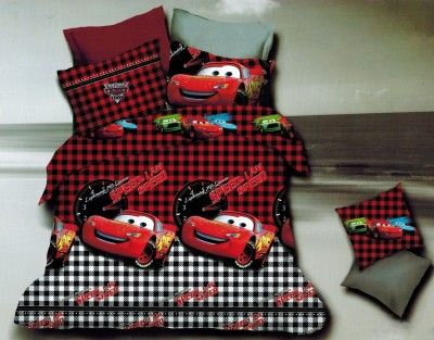 Balaji Creations Polycotton Cartoon King sized Double Bedsheet