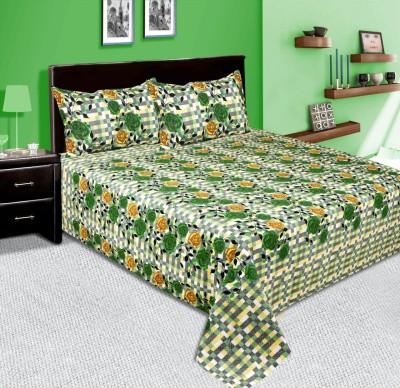 mahirfurnishings Cotton Floral Double Bedsheet