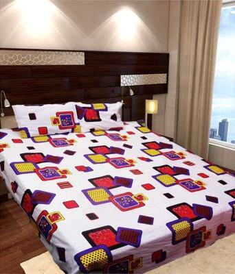Ridhaan Cotton Geometric Double Bedsheet