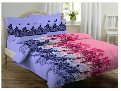 Melbon Cotton Printed Double Bedsheet