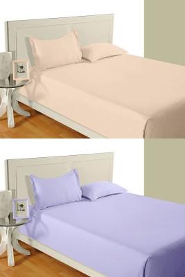 Idrape Cotton Striped Double Bedsheet