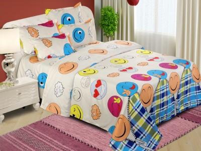 The Chaddar Polycotton Cartoon Double Bedsheet