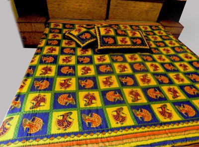 rk raagrang Cotton Embroidered King sized Double Bedsheet