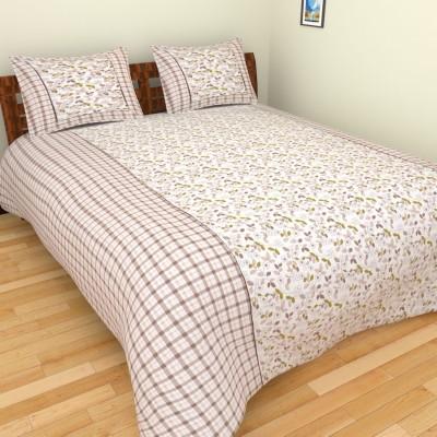 The Handloom Store Cotton Geometric Double Bedsheet