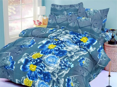 Octane Cotton Abstract King sized Double Bedsheet