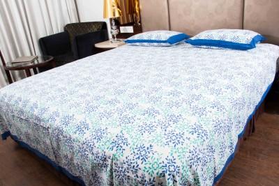 Navkar Eshop Cotton Floral King sized Double Bedsheet