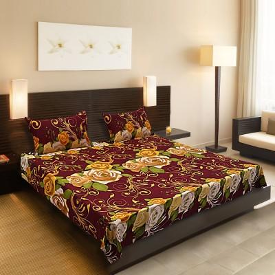 Spree Cotton Floral Double Bedsheet