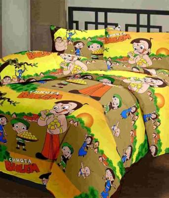 P Cotton Floral Double Bedsheet
