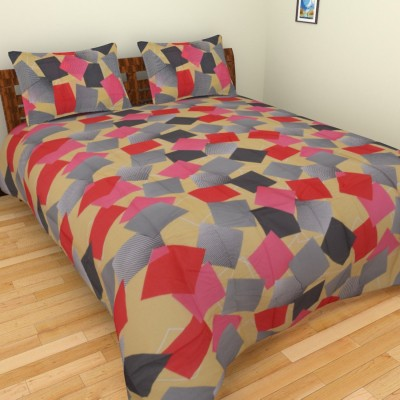 Home Solution India Cotton Self Design Double Bedsheet