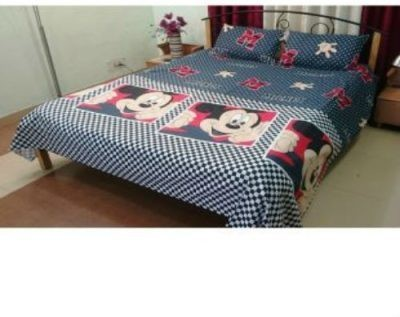 Newhome Cotton Cartoon Double Bedsheet
