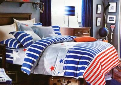 Maxx Home Polycotton Striped Double Bedsheet