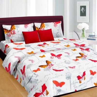Cortina Satin Abstract Double Bedsheet
