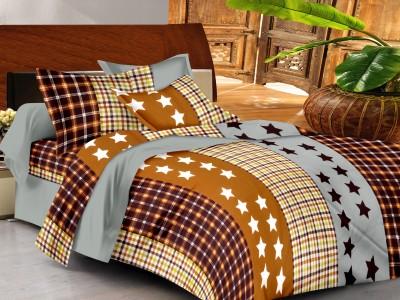 Casa Basics Cotton Geometric Queen sized Double Bedsheet