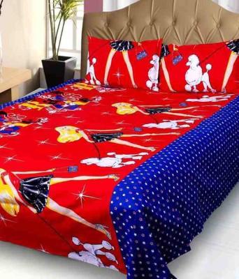 Galaxy Decorations Cotton Cartoon Double Bedsheet