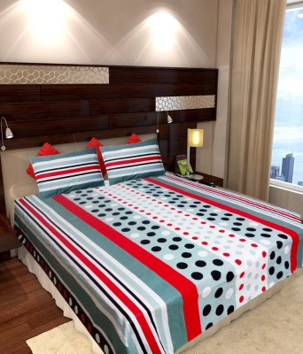 Homefab India Cotton Polka Double Bedsheet