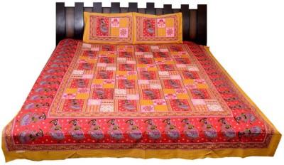 Nathi and Nancy Cotton Printed Double Bedsheet