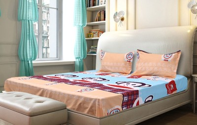 Jingle bells Cotton Silk Blend Animal Queen sized Double Bedsheet