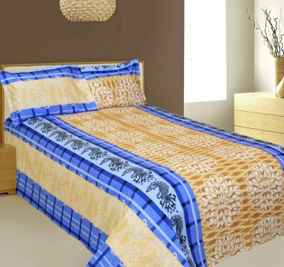 AJ Home Cotton Striped Double Bedsheet