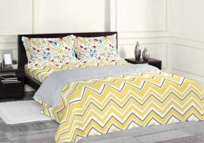Spaces by Welspun Cotton Abstract Double Bedsheet