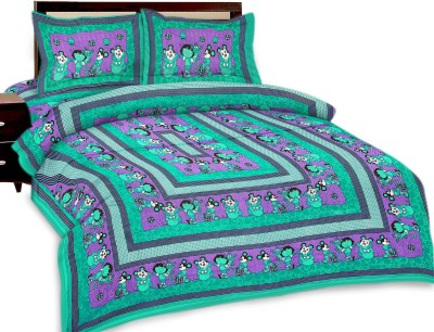 Shopping Rajasthan Cotton Floral Queen sized Double Bedsheet