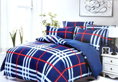 Hashcart Cotton Geometric Double Bedsheet