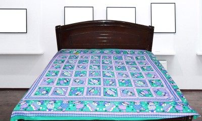 Fashion67 Cotton Checkered Double Bedsheet