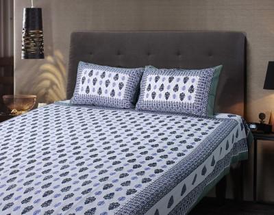 eCraftIndia Cotton Printed Double Bedsheet