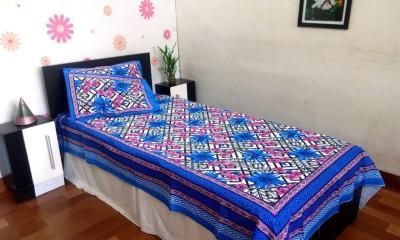 JR Print Cotton Floral Single Bedsheet