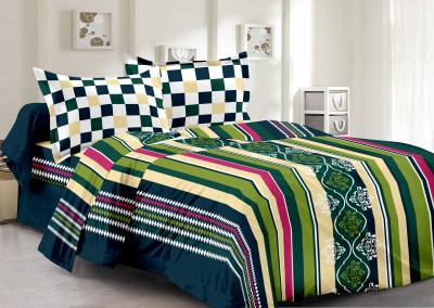 Welhous Cotton Striped Double Bedsheet
