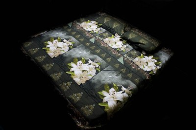 Neelam Traders Cotton Floral Double Bedsheet