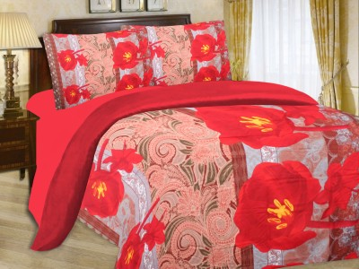 Cadillac Cotton Printed Queen sized Double Bedsheet