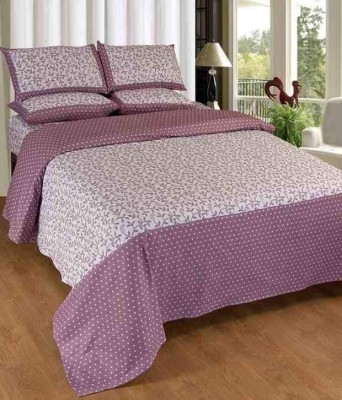 Abhomedecor Cotton Floral Double Bedsheet